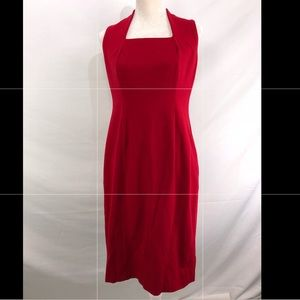 Talbots Red Dress Knee Height New Size 4